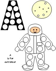 astronaut A is for worksheets