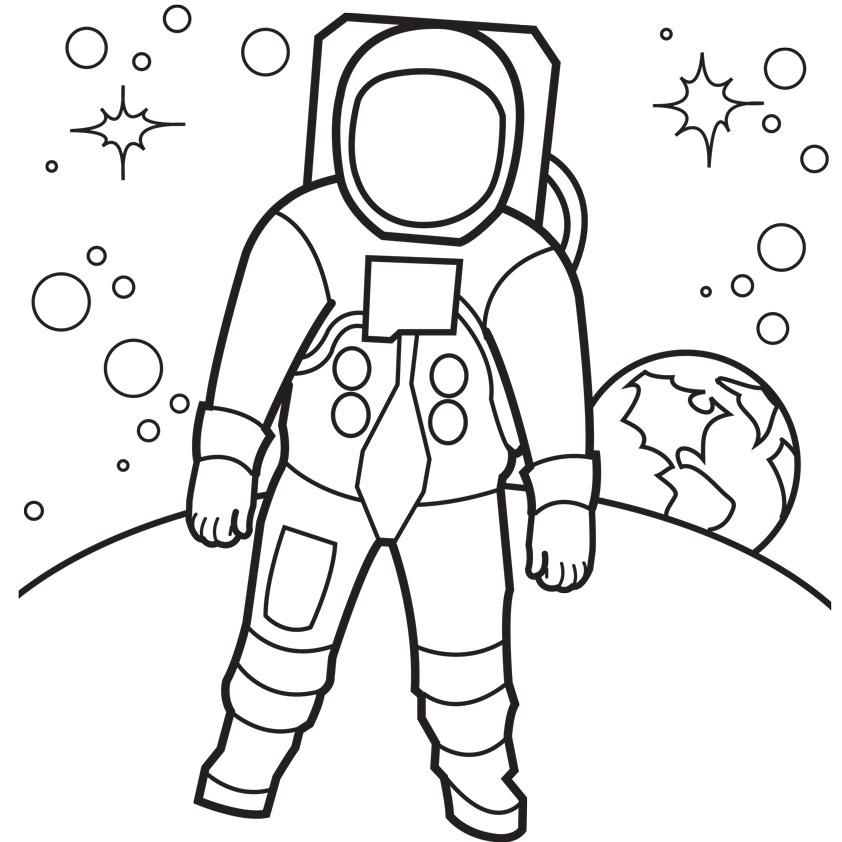 astronaut coloring pages for preschoolers (4) « Preschool ...