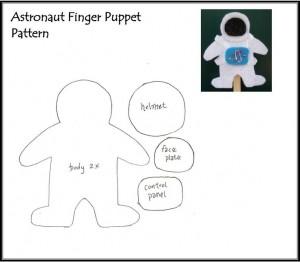 astronaut finger puppet template