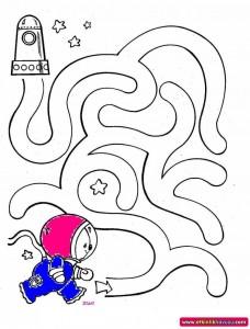 astronaut maze worksheets