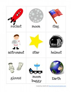 astronaut word cards
