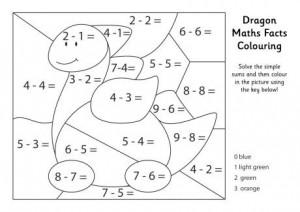 basic math coloring worksheets (2)