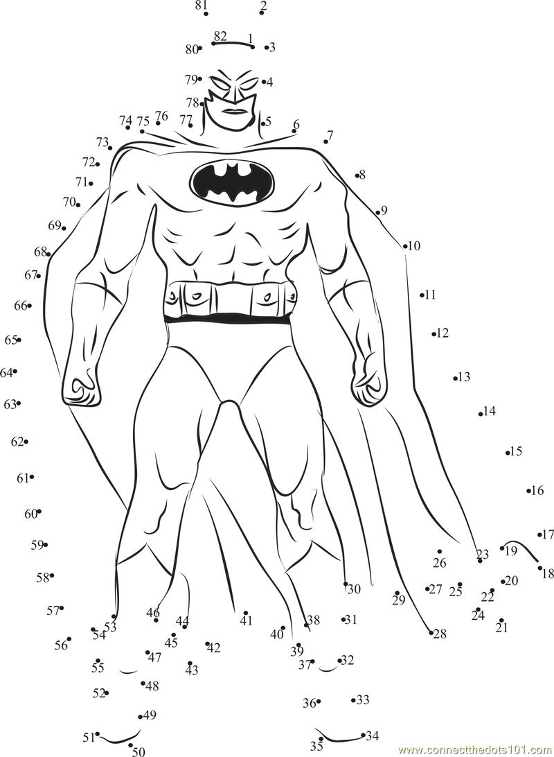 batman connect the dots worksheets