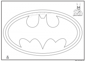 batman logo coloring pages