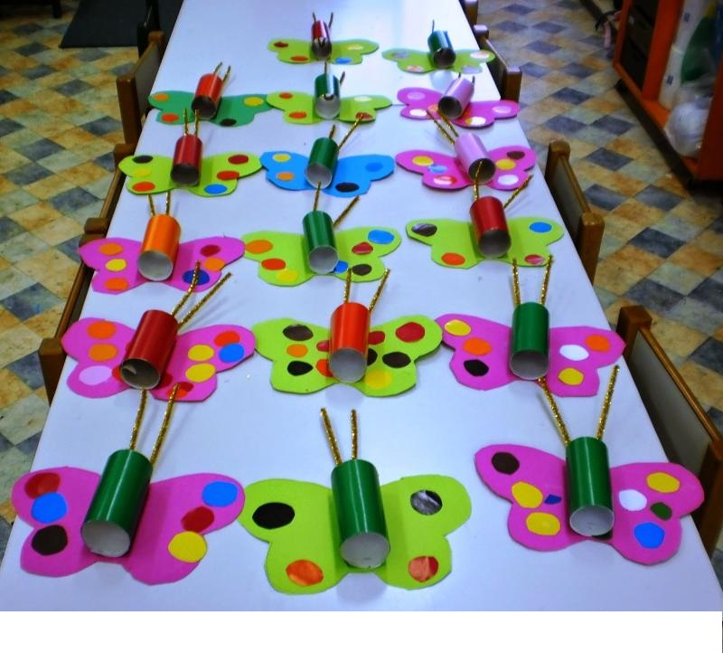 Butterfly Crafts For Kids 3 on Caterpillar Counting Template