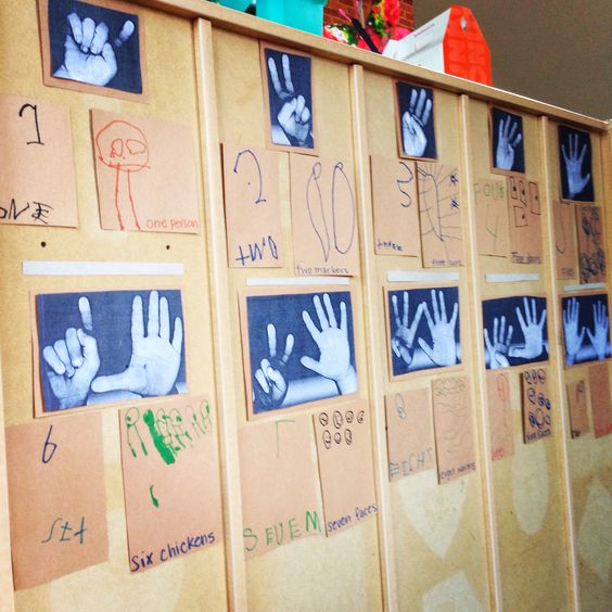 Classroom wall number activities for preschool 15 for Classroom wall mural ideas