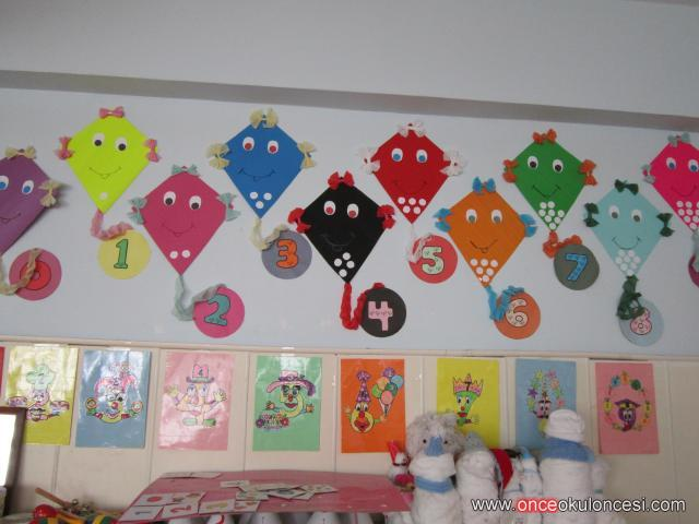 Classroom wall number activities for preschool 4 for Number 4 decorations