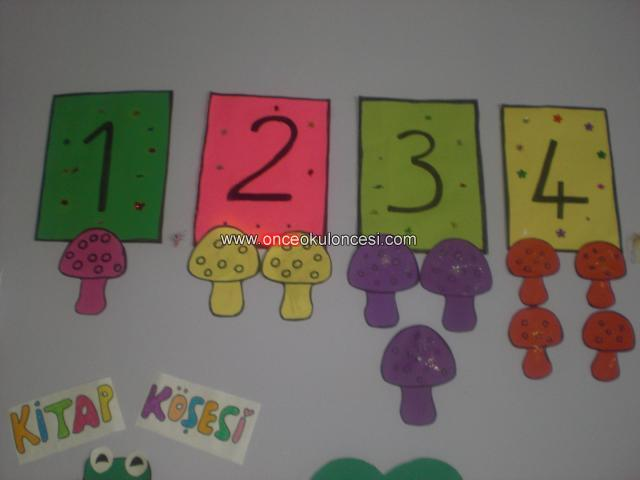 Classroom wall number activities for preschool 5 for Number 5 decorations