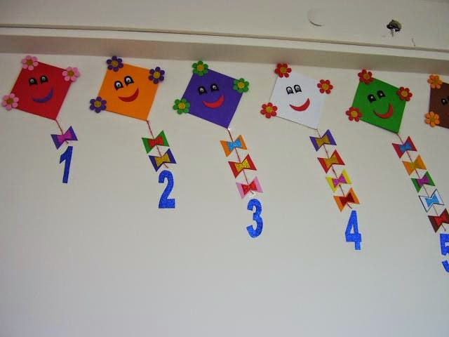 Classroom wall number activities for preschool 9 for Number 1 decorations