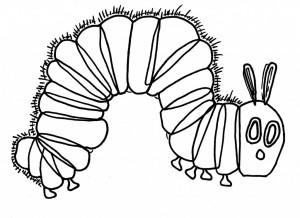coloring hungry caterpillar