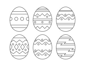 A set of decorated easter egg printables.