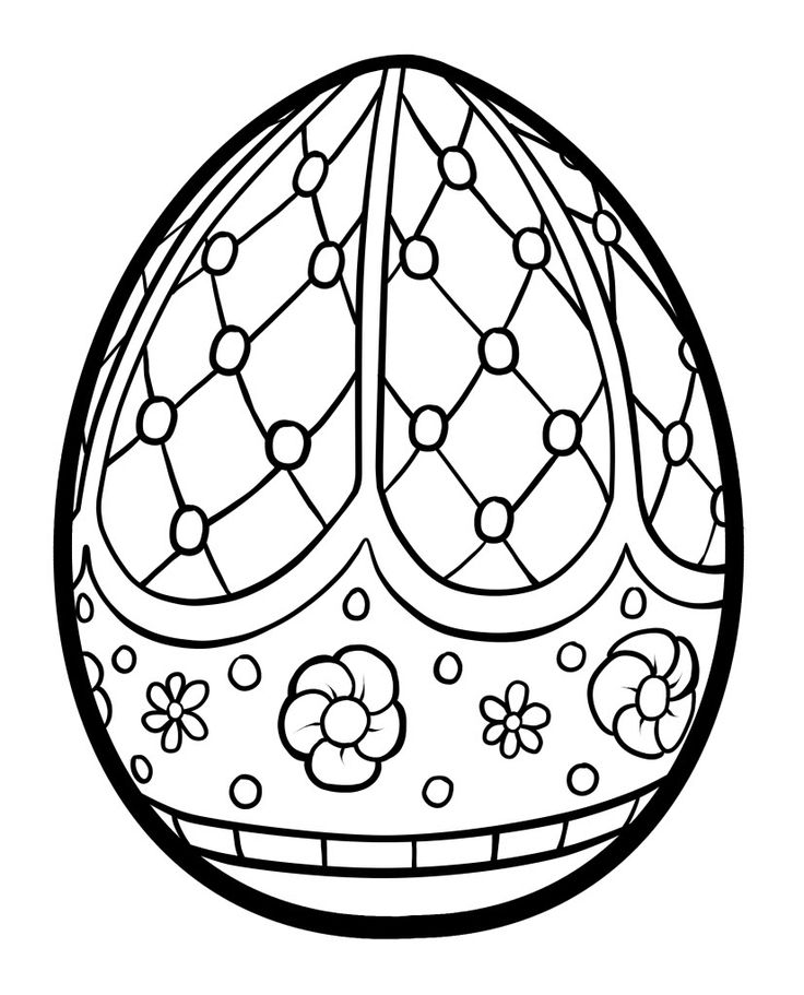 easter egg coloring pages for kıds (2) « Preschool and ...
