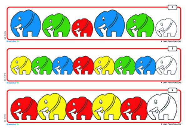 Elephant Pattern Card 171 Preschool And Homeschool