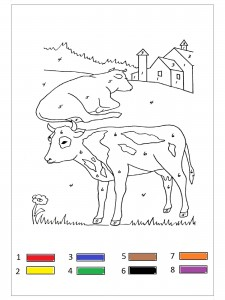 farm animal color by number (2)