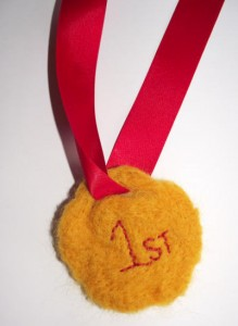 felted medals