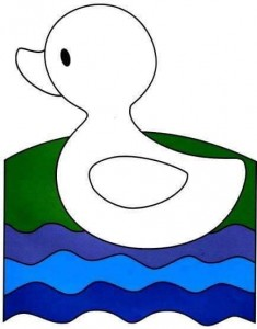 finger painting templates duck (1)