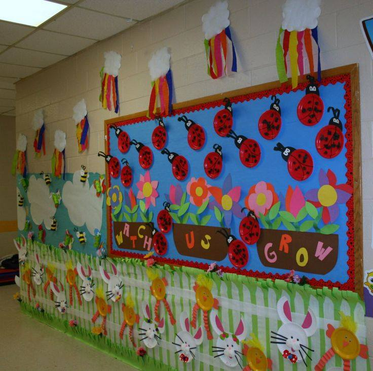 Fun spring activities for the classroom kindergarten 6 for Art and craft for school decoration