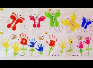 handprint and footprint crafts for the holidays (3)