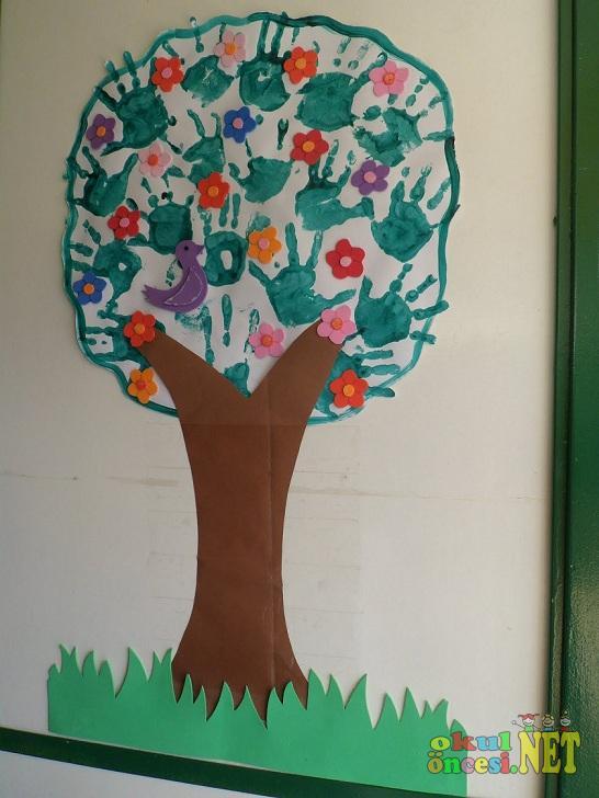 Spring Tree Crafts For Preschoolers Handprint Craft