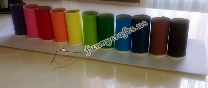 how to dıy easy pencil holder from toilet paper rolls