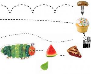 hungry caterpillar pre writing activities (5)