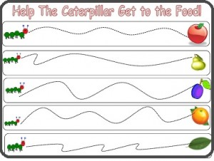 hungry caterpillar pre writing activities (6)