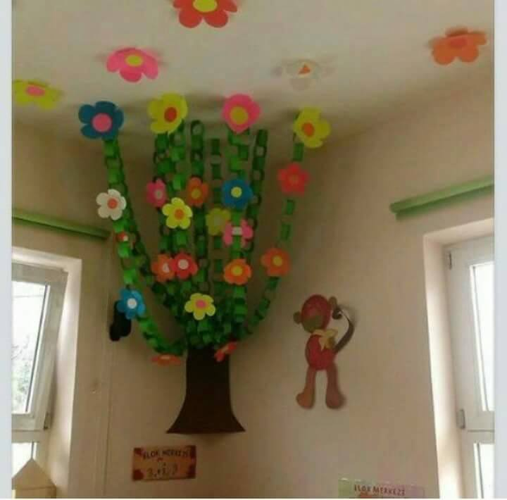 Kindergarten spring theme activities for teaching young 4 for Art and craft for classroom decoration