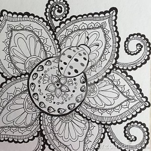 ladybug spring mandala coloring pages (13)