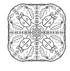 ladybug spring mandala coloring pages (14)