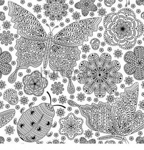 ladybug spring mandala coloring pages (18)