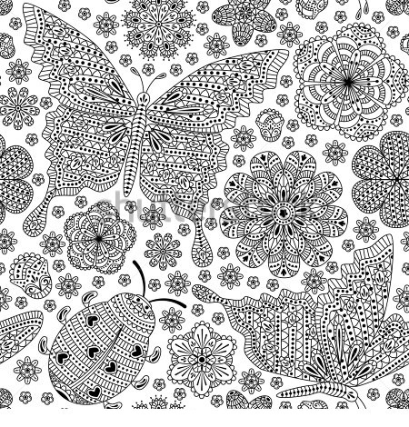 Ladybug Spring Mandala Coloring Pages 18 171 Preschool And