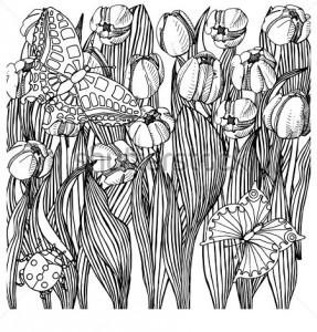 ladybug spring mandala coloring pages (19)