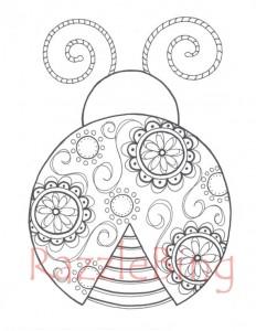 ladybug spring mandala coloring pages (4)