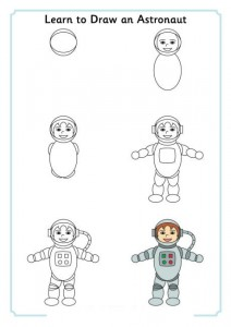 learn to draw space,alien,astronaut (3)