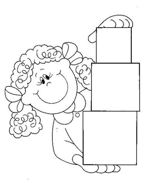 Learning Square Worksheets 3 on Easy Color Number Worksheet For Pre