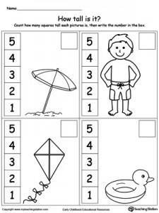 measure worksheet summer