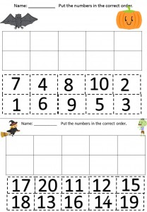 number pattern card