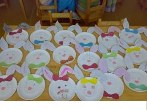 paper plate bunny craft for kıds