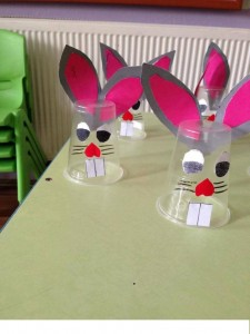 plastic cup bunny craft