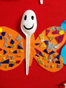 plastic spoon butterfly crafts