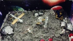 preschool sensory activity for a space theme