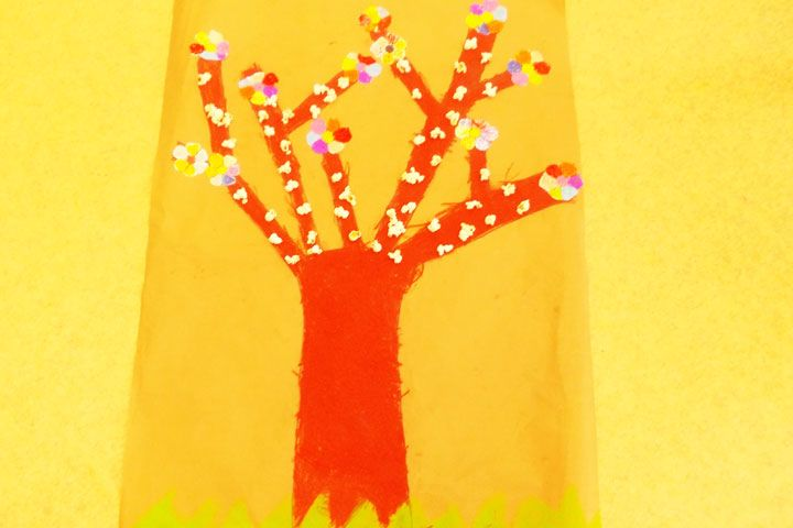 Preschool Tree Craft Spring on solar system projects for kids