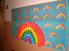 rainbow bulletin board ideas for kıds (2)