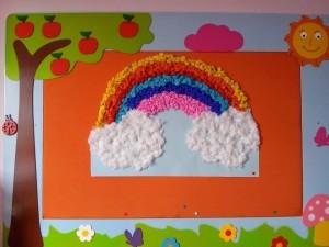 rainbow bulletin board ideas for kıds (30)