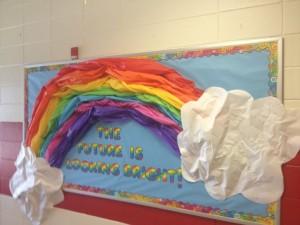 rainbow bulletin board ideas for kıds (7)