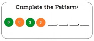 skittles pattern card