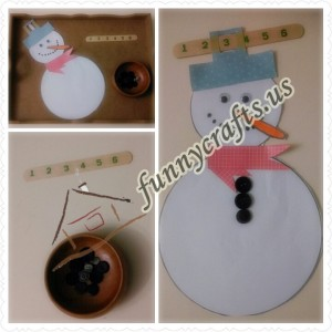 snowman button counting