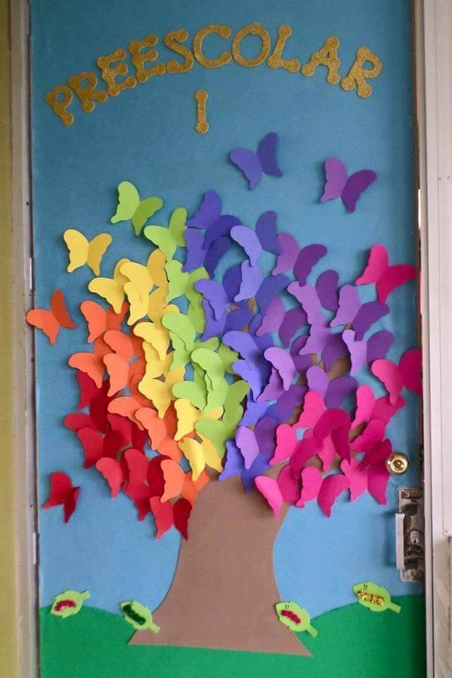 Spring classroom door decorations preschool 7 for Nursery class door decoration
