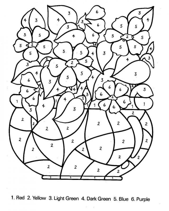 spring color by number worksheets spring color by number 18