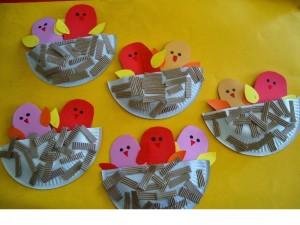 spring paper plate  bird craft for kıds